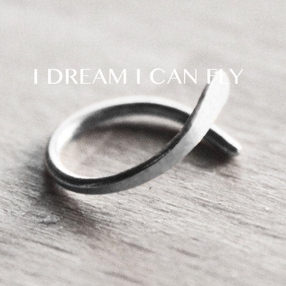 One 9mm 20g Silver Cartilage Hoop - One 9mm Sterling Silver Loop Open Hoop Earring on Etsy, $15.50