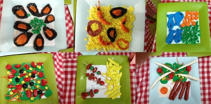 Aliments de plastilina. Creació de l'Anna Ariño Fradera i la Mar Vázquez amb els infants de P4 de l'escola Llibertat (Badalona)