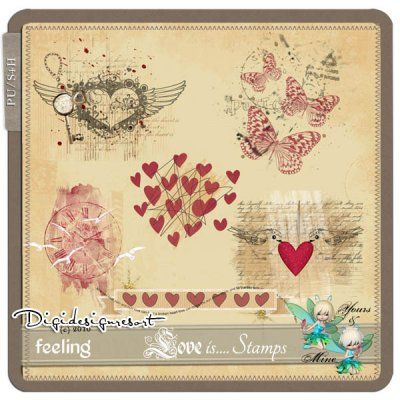 Love is .... Stamps (PU/S4H) by Yours&Mine