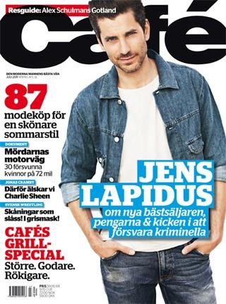Jens Lapidus in Magazine Café 2011