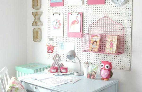mädchen kinderzimmer lernbereich mit schöner dekoration