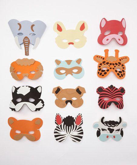 DIY KIDS Animal Mask Set | zulily