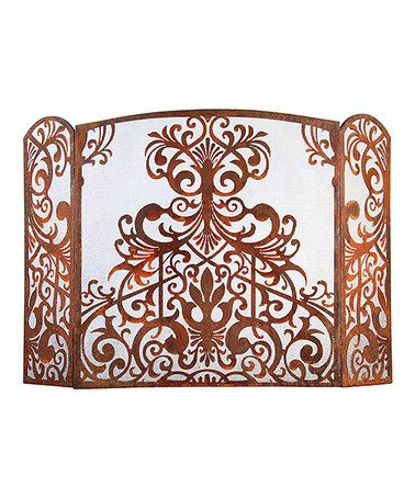 This Small Victorian Fireplace Screen is perfect! #zulilyfinds