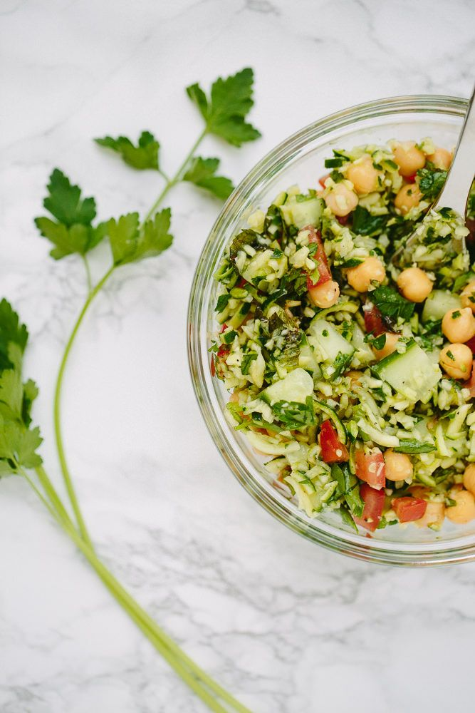 Zucchini Rice Tabbouleh with Chickpeas - Weight Watchers SmartPoints*: 5 points