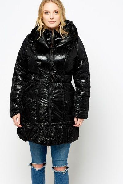 Elasticated Puffa Hooded Jacket £5