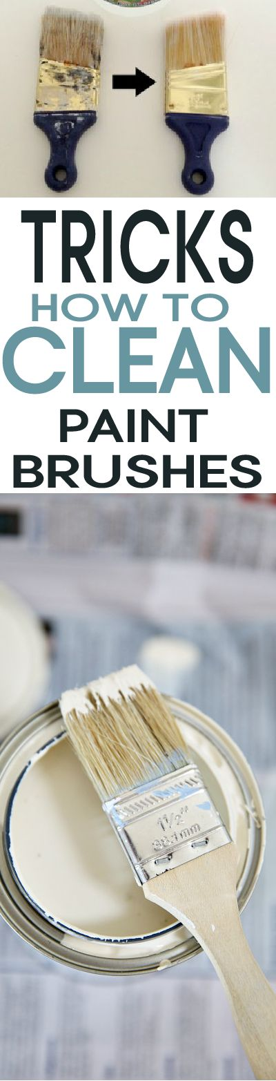 Easily Clean your paint brushes with these smart tricks!