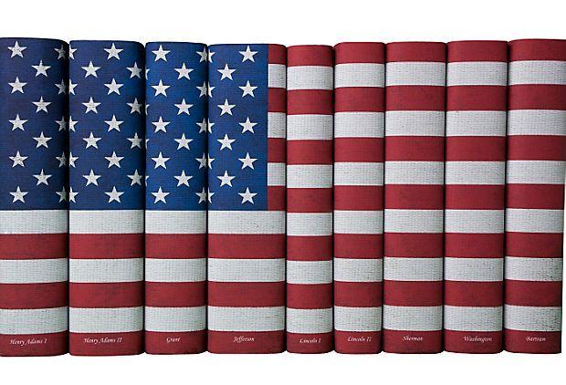 S/9 American Flag Books on OneKingsLane.com