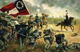 O quarto Alabama por Don Troiani, guerra, Manassas, Virgínia - 21 de julho de 1861