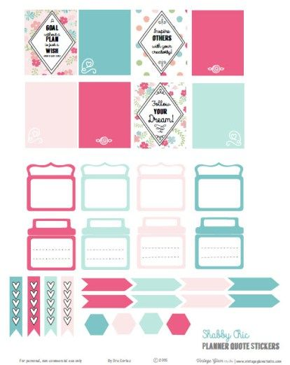 Shabby Chic Planner Quotes | Free Printable Download