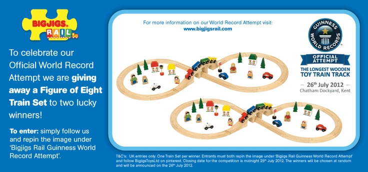 In celebration of our Guinness World Record Attempt on 26/07/2012, we are launching a superb *COMPETITION* Simply follow us & re-pin this image to be in with a chance of winning!!