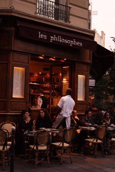Les Philosophes レ・フィロソフって、ビストロ。