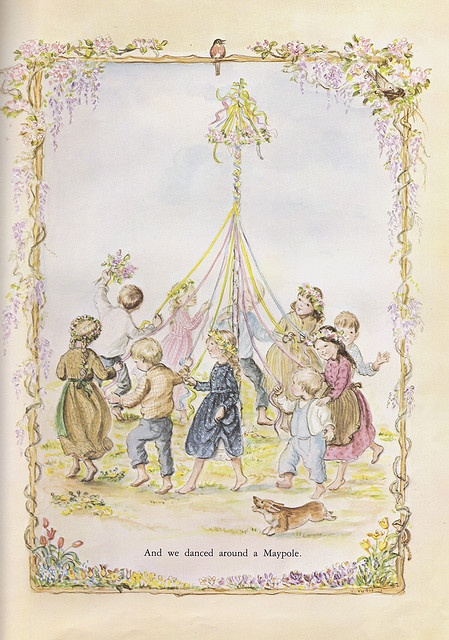 May Pole - A Time to Keep by Tasha Tudor - I want to frame the pages from her books
