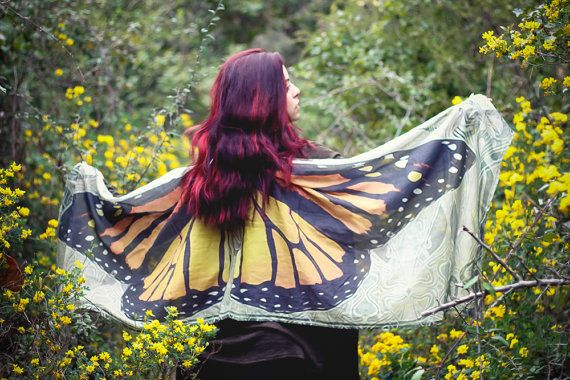 Butterfly scarf wings fairy bohemian monarch by CostureroReal
