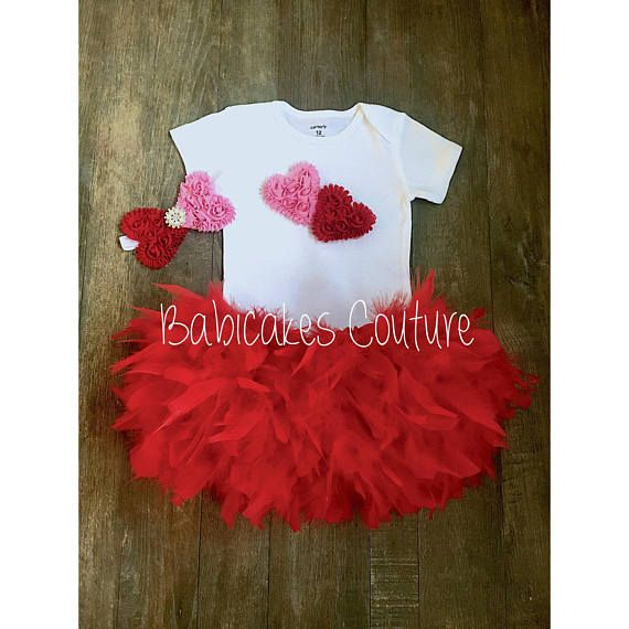 Valentines Sweetheart 1st Birthday Outfit