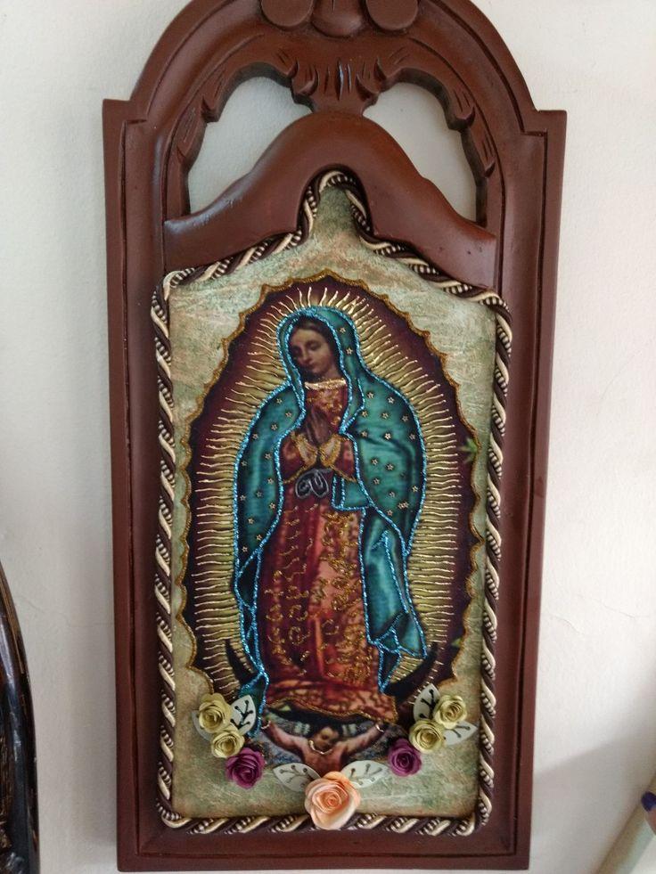 Virgen de Guadalupe en técnica mixta