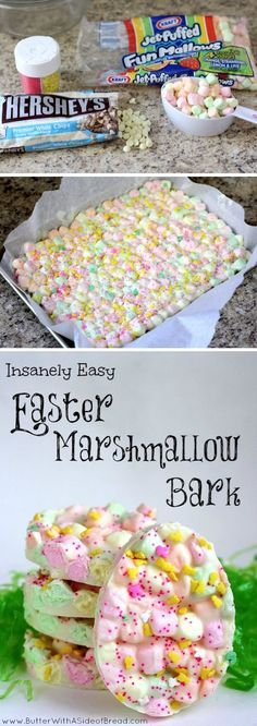 Easter Marshmallow Bark | Looks easy and yummy!