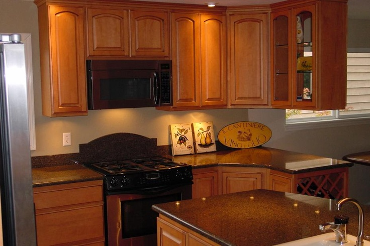 Lovely kitchen cabinets countertop and built in wine for Built in wine racks for kitchen cabinets