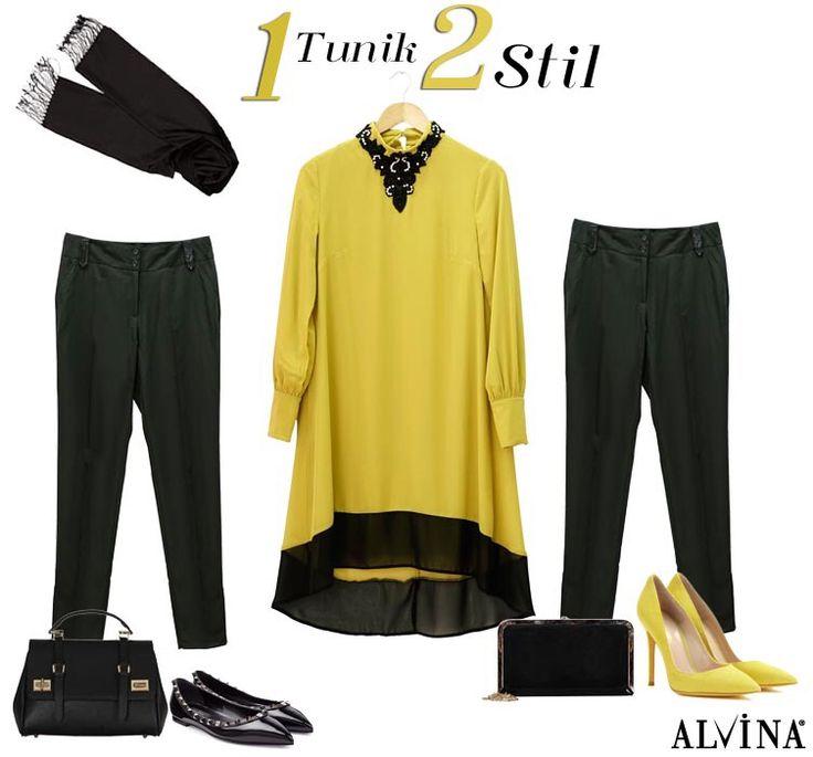 1 Tunik 2 Stil.. Tunik; https://goo.gl/9W2MDt Pantolon; https://goo.gl/bhfMqO Çanta; https://goo.gl/Y87ulR #alvina #alvinamoda #alvinafashion #alvinaforever #hijab #hijabstyle #hijabfashion #tesettür #fashion #stylish #kombin