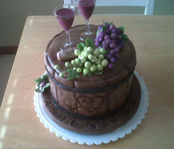 Best 25+ Wine Theme Cakes Ideas On Pinterest