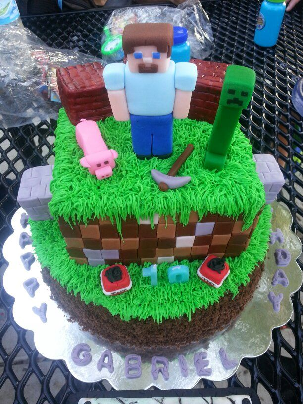 Really cool #minecraft cake