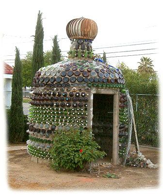 I have chicken coops on my mind, but what if the lower walls of my future coop were made from bottles in this style?