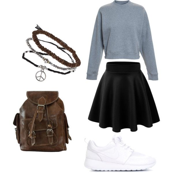 Untitled #38 by bestari09 on Polyvore featuring polyvore fashion style Acne Studios NIKE Topshop