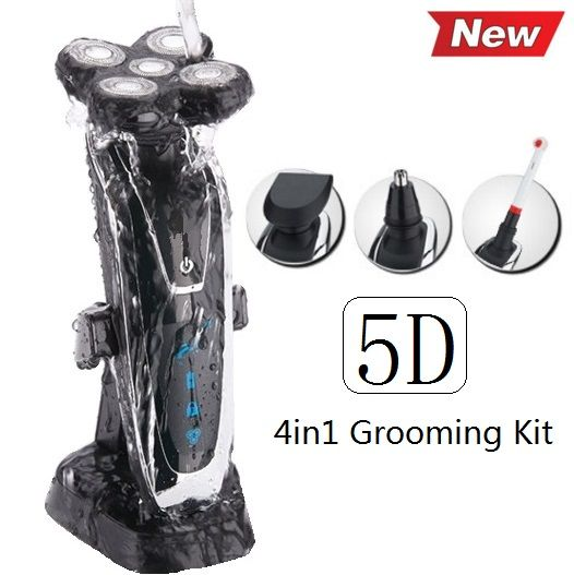 100-240v Original 5D Razor Electric Shaver For Men Rechargeable men's Shaving Machine with beard & nose trimmer+ toothbrush*4