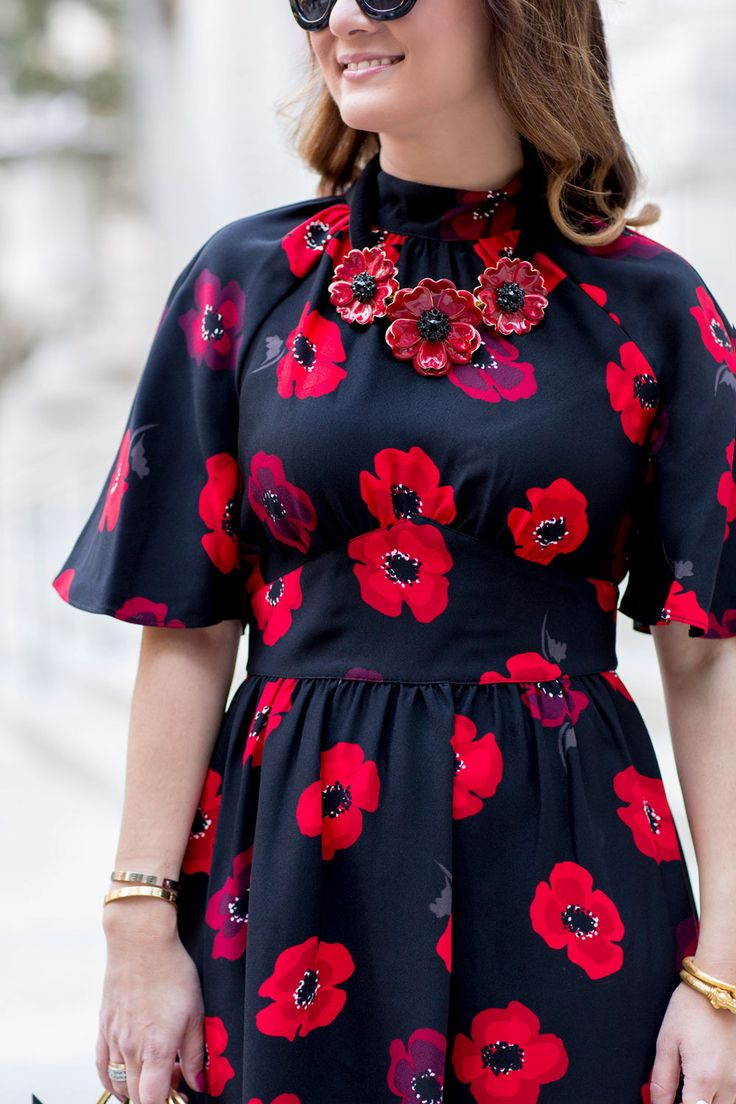 Kate Spade Floral Statement Necklace
