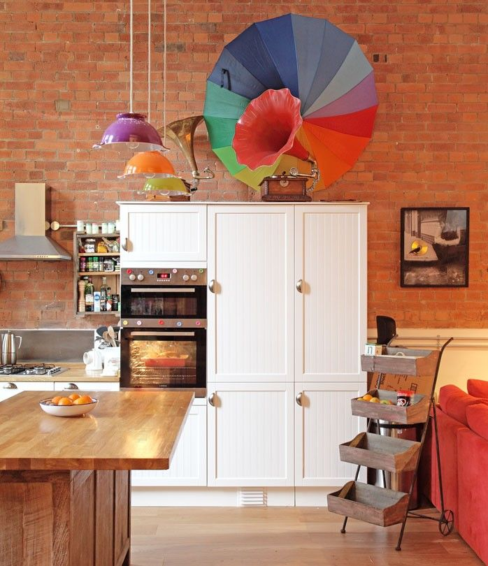 kitchen design studio london school turned into eclectic vintage home 437
