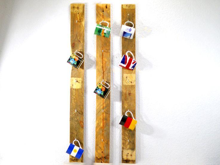 Wandregale - Becherregal 3 teili, Palettenmöbel - ein Designerstück von SchlueterKunstundDesign bei DaWanda