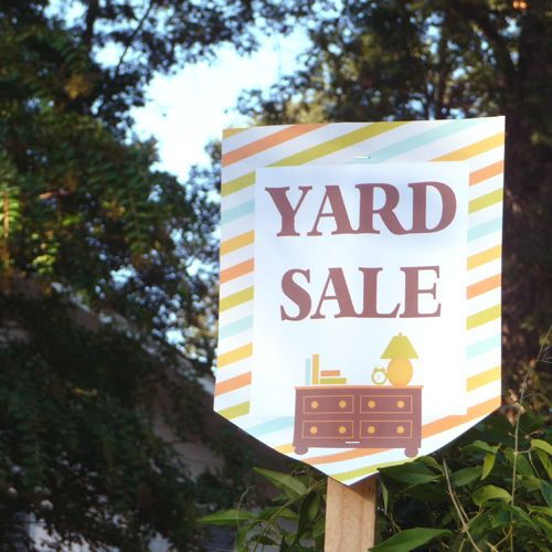64 best Garage sale images on Pinterest Yard sales, Rummage sale - free for sale signs for cars