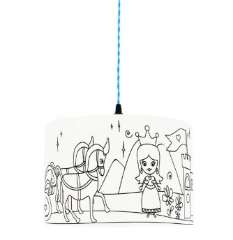 Princess Kingdom Mullan Kids Colour Me Lampshade
