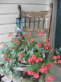 Chaise fleurie