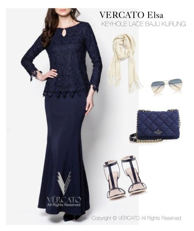 """VERCATO Elsa Baju Kurung Moden"" in navy blue,mint green and also available in salmon. SHOP NOW: http://www.vercato.com/baju-kurung-moden-lace-keyhole-vercato-elsa-navy-blue"