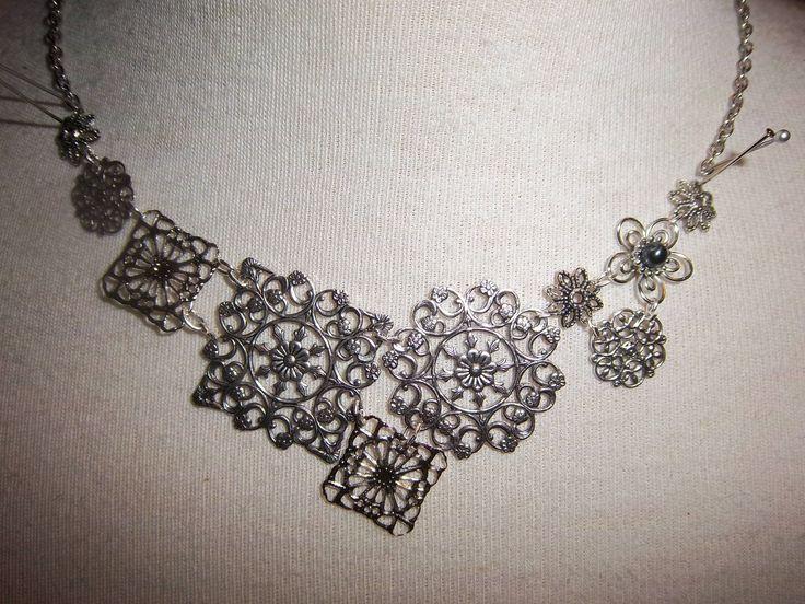 Antique silver filigree - custom design by request