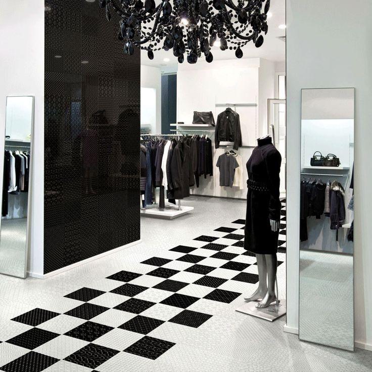 Selection 20x20cm White on White; Black on Black