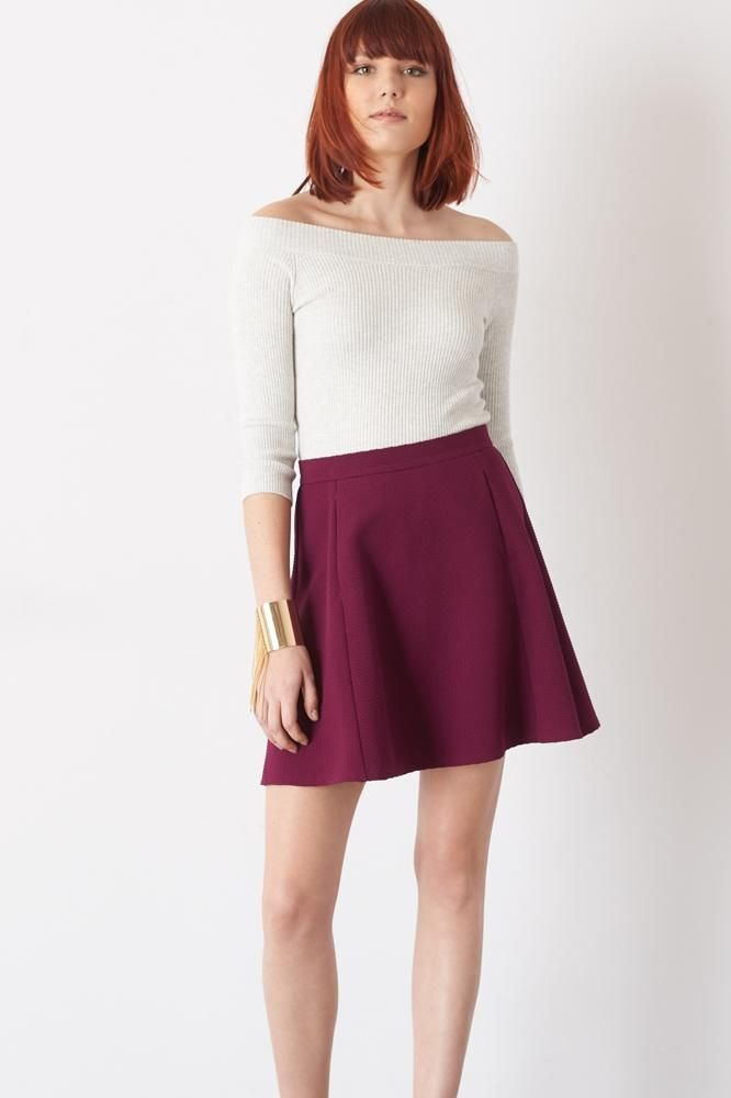 A flare mini skirt that goes with every outfit!