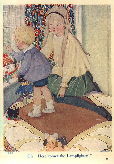 Our Tots Bumper Book - sister and brother by moonflygirl, via Flickr Anne Anderson?