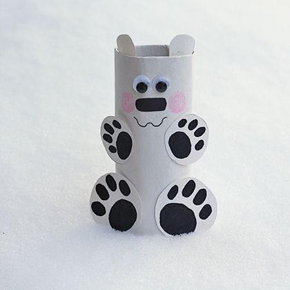 Cardboard Tube Polar Bear by Amanda Formaro for Spoonful.com