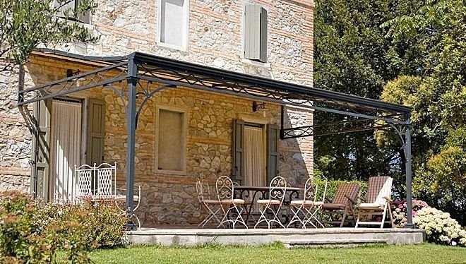 iron pergola (PVC canvas cover) MALATESTA UNOSIDER