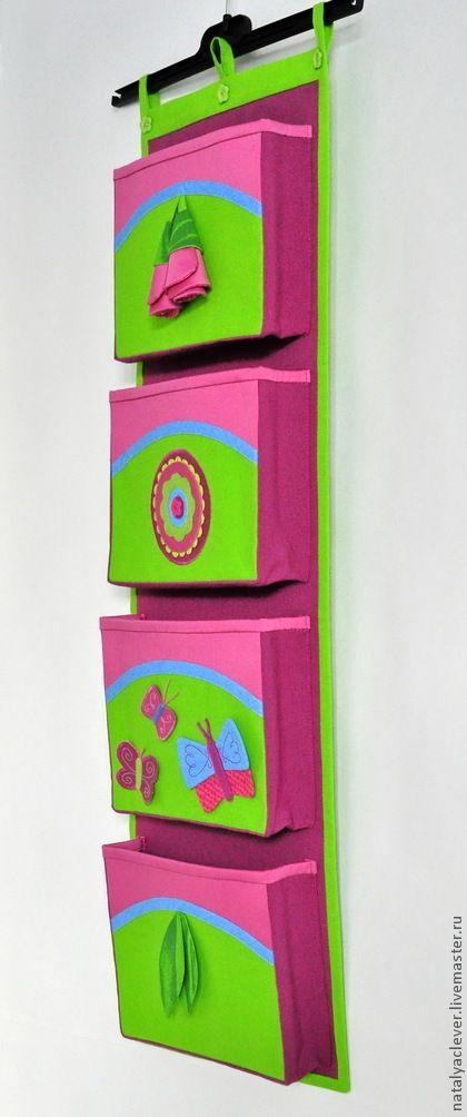 Кармашки в детский сад/ Органайзер для детской. Handmade.