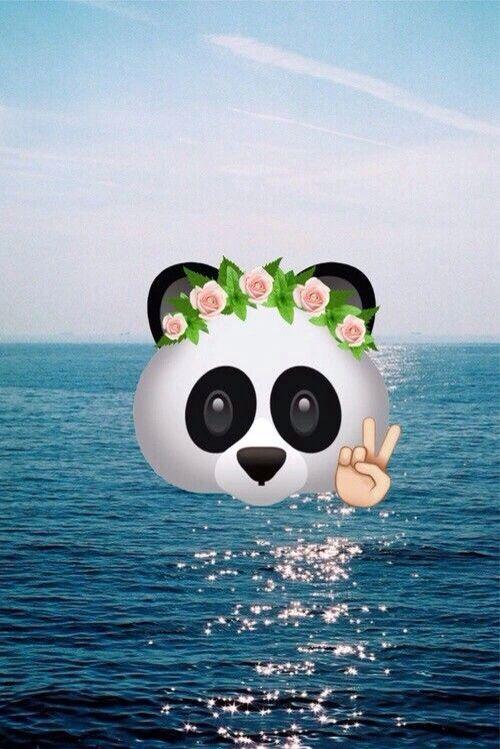 Emoji Panda Tumblr Wallpaper Flower Summer