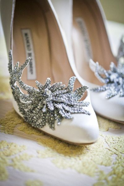 Majorly glam wedding shoes: http://www.stylemepretty.com/2012/11/05/backyard-connecticut-wedding-from-sara-wight-photography/ | Photography: Sara Wight - http://sarawightphotography.com/