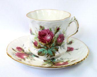 Vintage Tea Cup Trio ingesteld grootmoeder door VintageTeacupShop