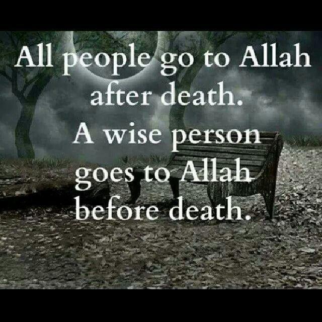 Go to Allah