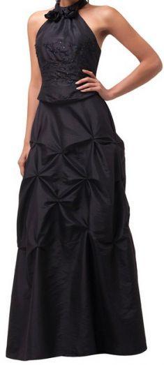 Rochie de seara neagra cu prindere dupa gat