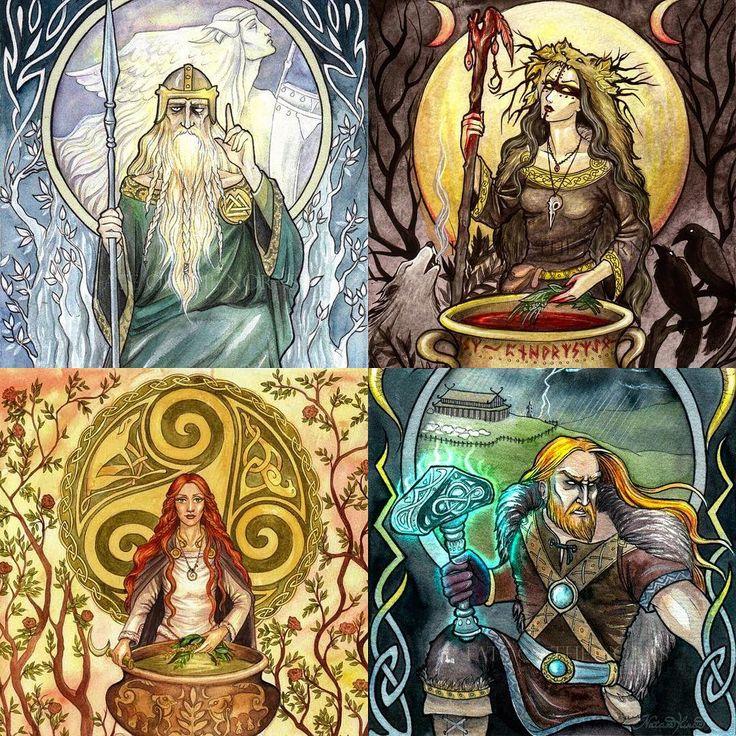 картинки богов рун круглое, зеркало деревянной