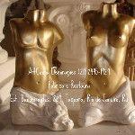 Casal de Torsos 28 cm - Pecas Decorativas, em Artesanato de Gesso - ArtCunha Decorações em Artesanato de Gesso - Fabrica e Restaura. Est. Bandeirantes, 829, Taquara, Rio de Janeiro, RJ. Tel: (21) 2445-1929 / 8558-3595. #Escultura #Estatua #Artesanato #Gesso #Fabrica #Casal #Casais ///////////////////////////////// ATENÇÃO !!! CLIQUE NA IMAGEM, PARA APARECER EM TAMANHO MAIOR.