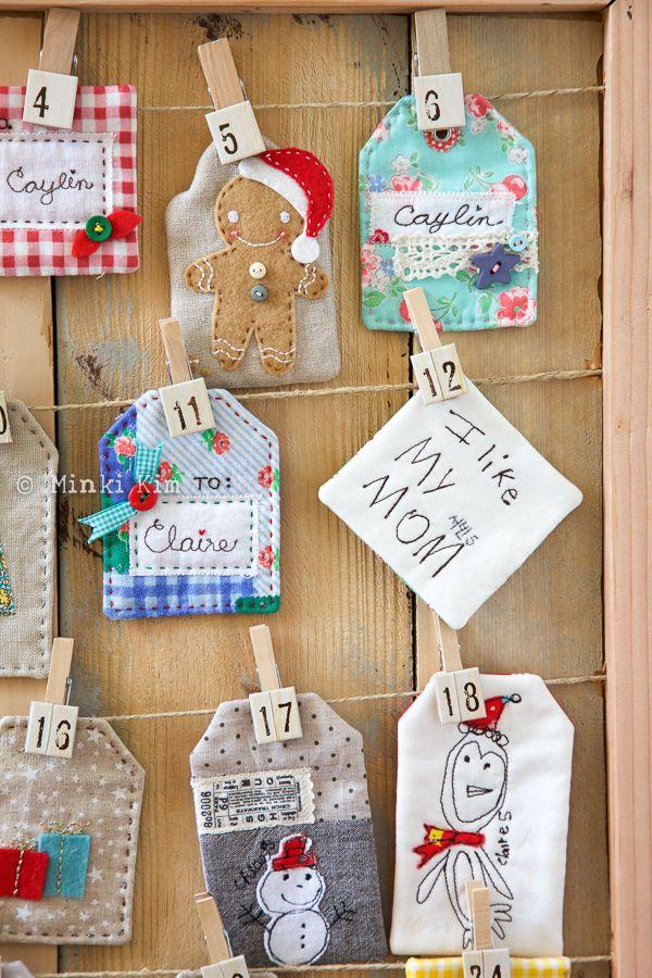 Diy Sewing Advent Calendar : Minki s work table sewing illustration