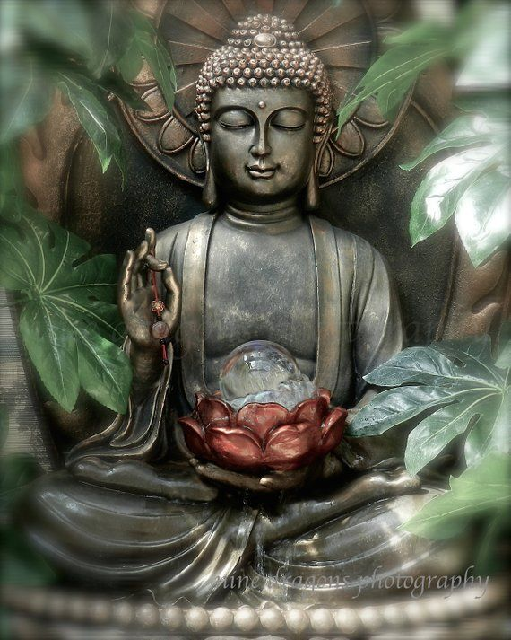 Buddha Wall Art, Zen Art Buddha Photography, Zen Decor Boho Artwork, Green Buddha Print, Meditation Art, Buddha Art, Yoga Art Buddah